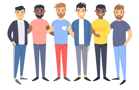 Clipart of a Group of Men