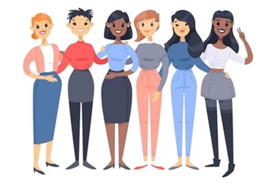 Clipart of a Group of Women